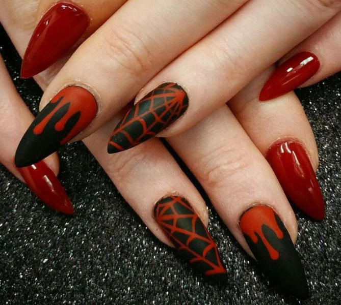 halloween-nail-ideas-181 89+ Seriously Spooky Halloween Nail Art Ideas