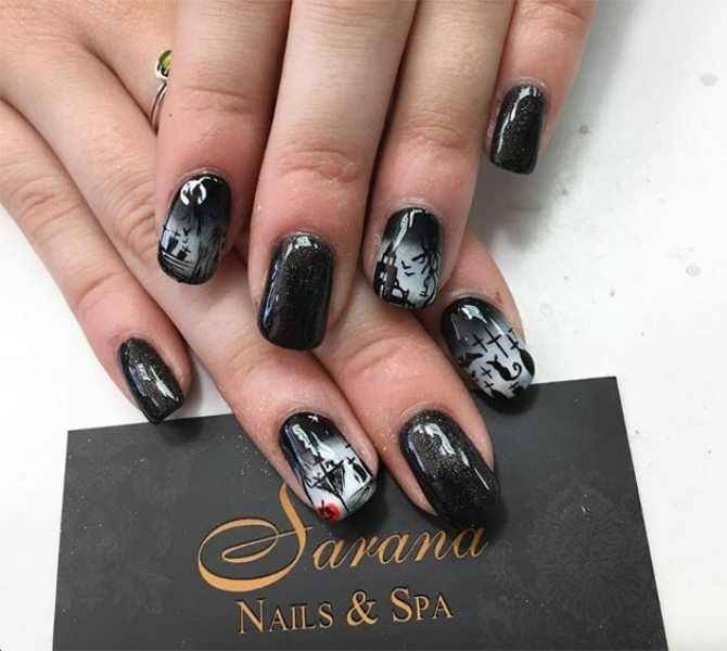 halloween-nail-ideas-182 89+ Seriously Spooky Halloween Nail Art Ideas