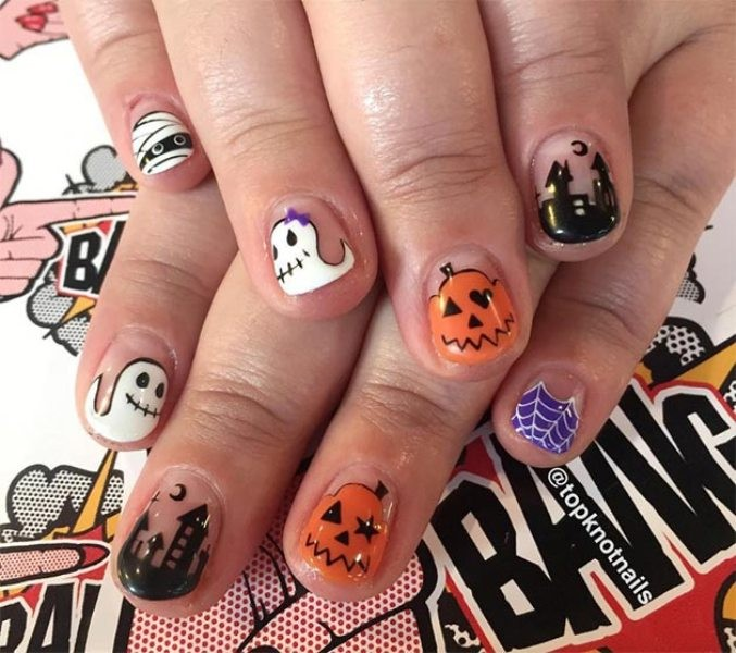 halloween-nail-ideas-183 89+ Seriously Spooky Halloween Nail Art Ideas
