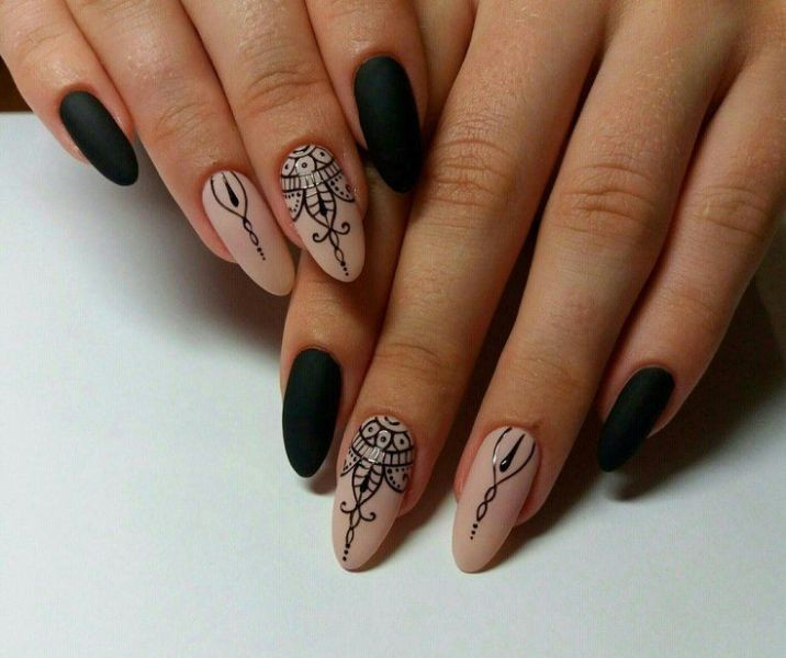 halloween-nail-ideas-185 89+ Seriously Spooky Halloween Nail Art Ideas