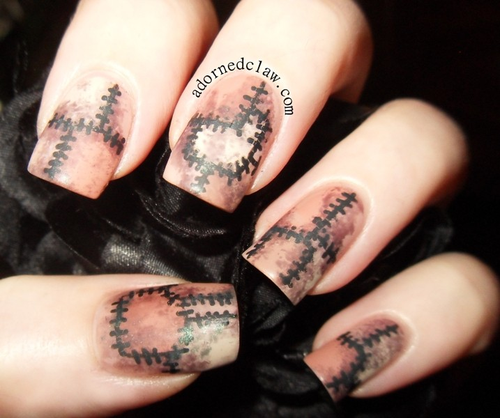 halloween-nail-ideas-186 89+ Seriously Spooky Halloween Nail Art Ideas