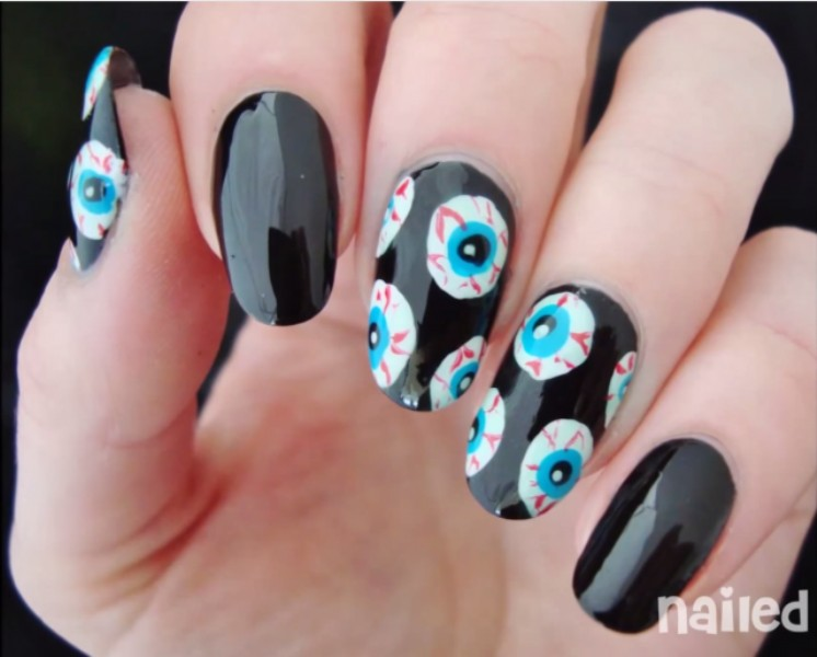 halloween-nail-ideas-189 89+ Seriously Spooky Halloween Nail Art Ideas