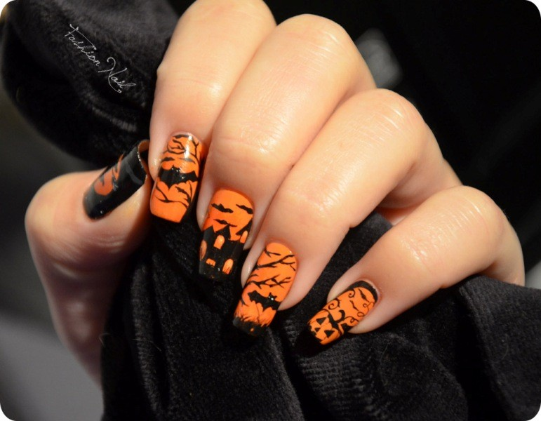 halloween-nail-ideas-191 89+ Seriously Spooky Halloween Nail Art Ideas