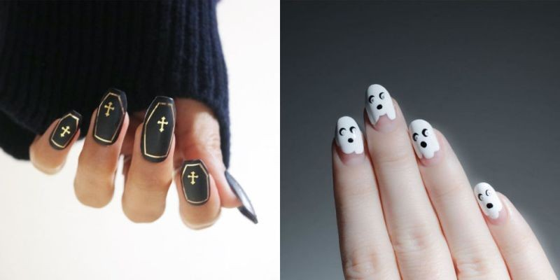 halloween-nail-ideas-197 89+ Seriously Spooky Halloween Nail Art Ideas