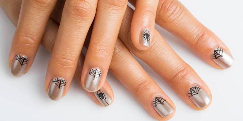 halloween-nail-ideas-198 89+ Seriously Spooky Halloween Nail Art Ideas