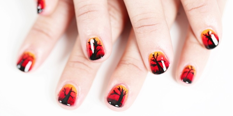 halloween-nail-ideas-199 89+ Seriously Spooky Halloween Nail Art Ideas