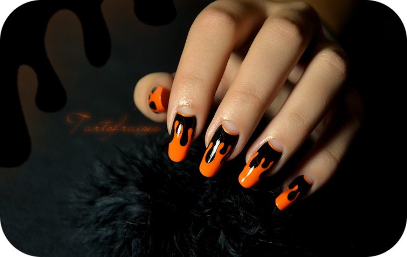 halloween-nail-ideas-203 89+ Seriously Spooky Halloween Nail Art Ideas