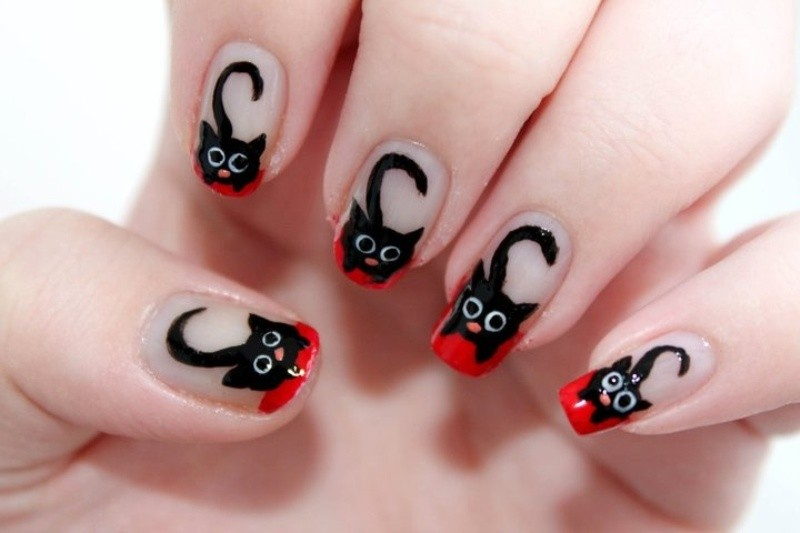 halloween-nail-ideas-206 89+ Seriously Spooky Halloween Nail Art Ideas