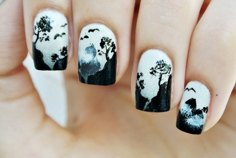 halloween-nail-ideas-209 89+ Seriously Spooky Halloween Nail Art Ideas