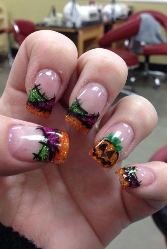 halloween-nail-ideas-21 89+ Seriously Spooky Halloween Nail Art Ideas
