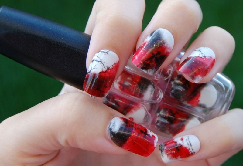 halloween-nail-ideas-210 89+ Seriously Spooky Halloween Nail Art Ideas