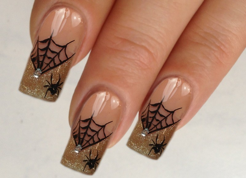 halloween-nail-ideas-212 89+ Seriously Spooky Halloween Nail Art Ideas