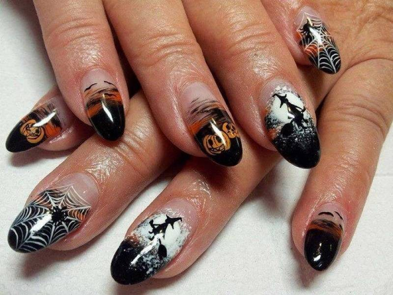 halloween-nail-ideas-213 89+ Seriously Spooky Halloween Nail Art Ideas