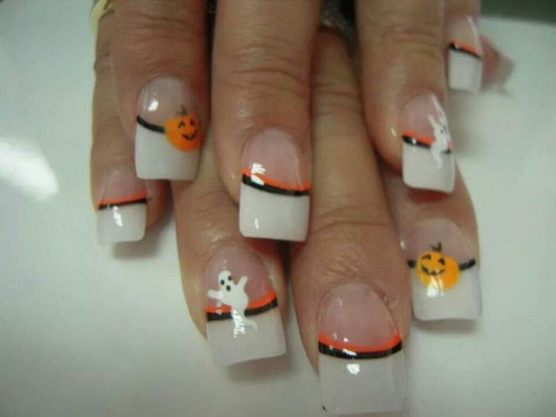halloween-nail-ideas-218 89+ Seriously Spooky Halloween Nail Art Ideas