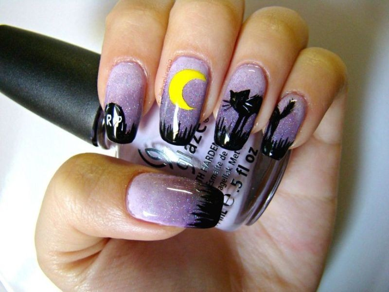 halloween-nail-ideas-219 89+ Seriously Spooky Halloween Nail Art Ideas