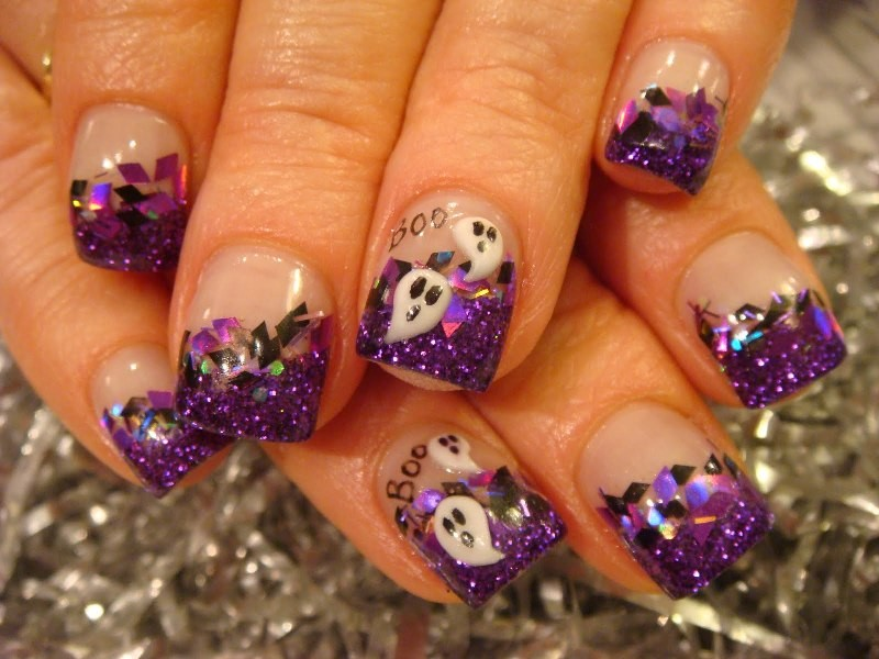 halloween-nail-ideas-222 89+ Seriously Spooky Halloween Nail Art Ideas