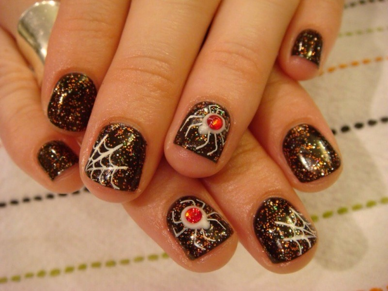 halloween-nail-ideas-225 89+ Seriously Spooky Halloween Nail Art Ideas