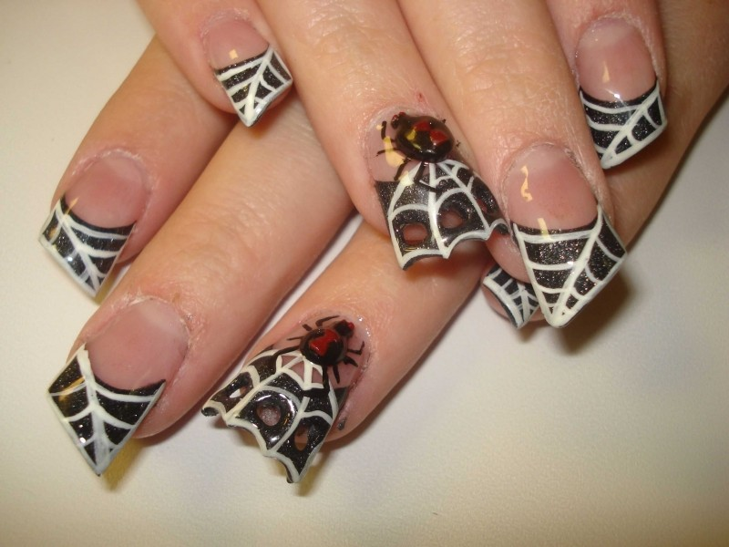 halloween-nail-ideas-227 89+ Seriously Spooky Halloween Nail Art Ideas