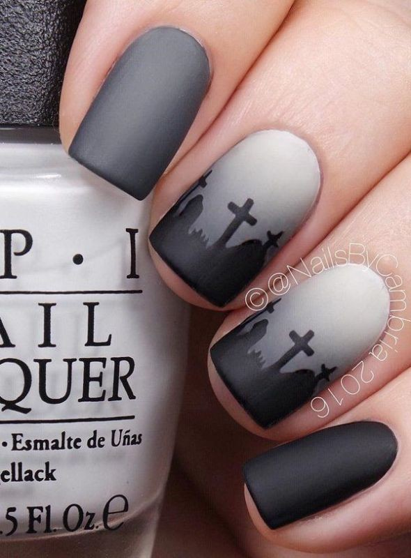 halloween-nail-ideas-26 89+ Seriously Spooky Halloween Nail Art Ideas