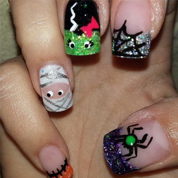 halloween-nail-ideas-31 89+ Seriously Spooky Halloween Nail Art Ideas