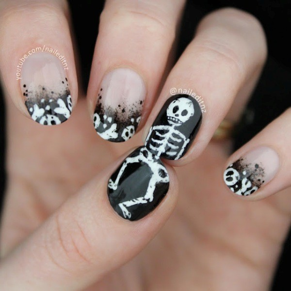 halloween-nail-ideas-33 89+ Seriously Spooky Halloween Nail Art Ideas