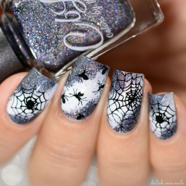 halloween-nail-ideas-46 89+ Seriously Spooky Halloween Nail Art Ideas
