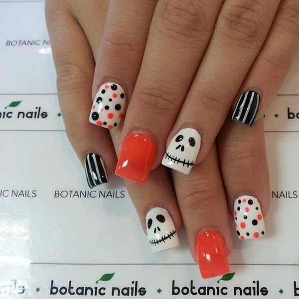 halloween-nail-ideas-49 89+ Seriously Spooky Halloween Nail Art Ideas