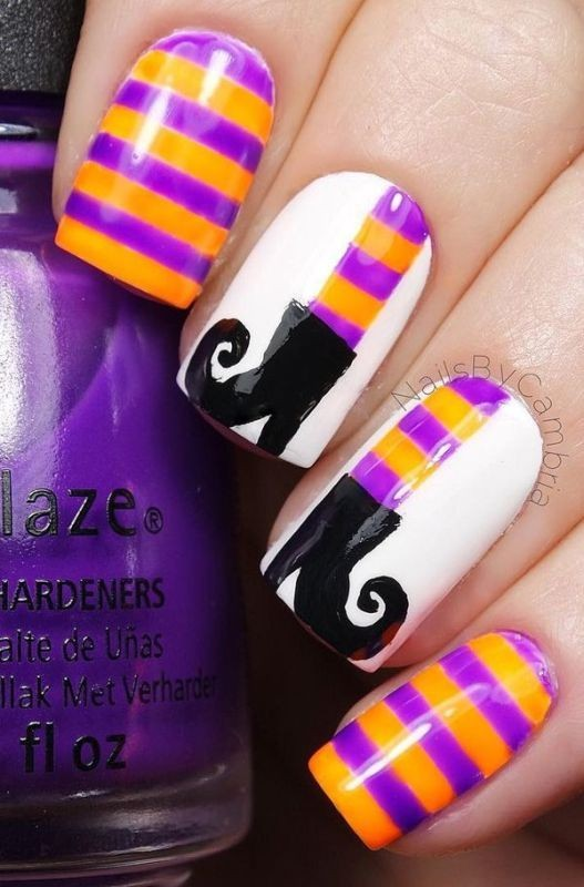 halloween-nail-ideas-5 89+ Seriously Spooky Halloween Nail Art Ideas
