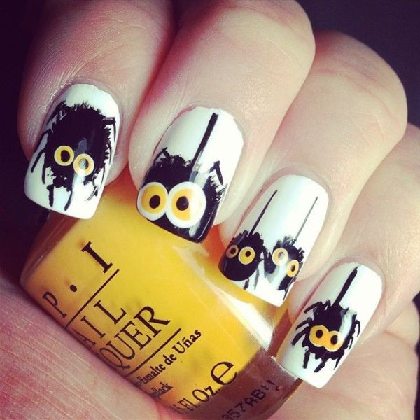 halloween-nail-ideas-50 89+ Seriously Spooky Halloween Nail Art Ideas