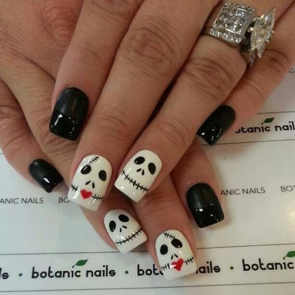 halloween-nail-ideas-51 89+ Seriously Spooky Halloween Nail Art Ideas