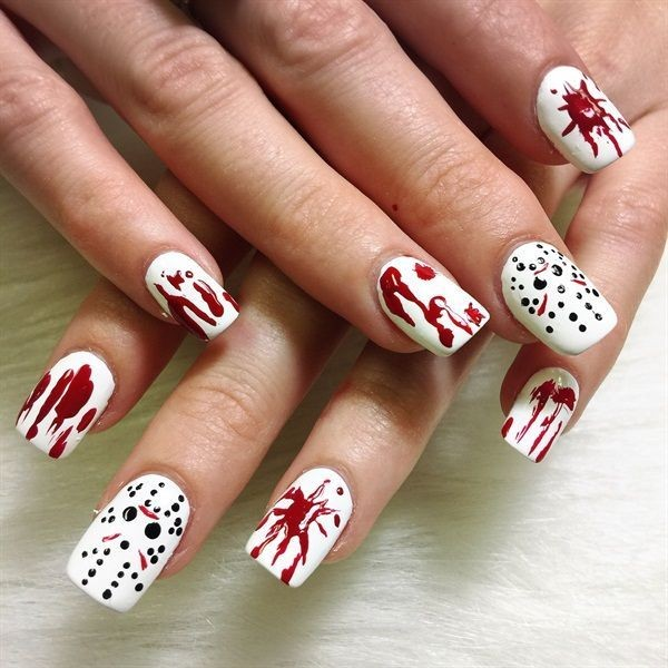 halloween-nail-ideas-54 89+ Seriously Spooky Halloween Nail Art Ideas