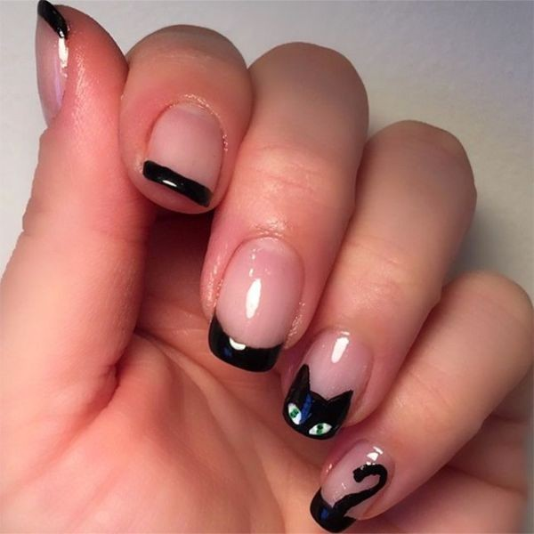 halloween-nail-ideas-55 89+ Seriously Spooky Halloween Nail Art Ideas