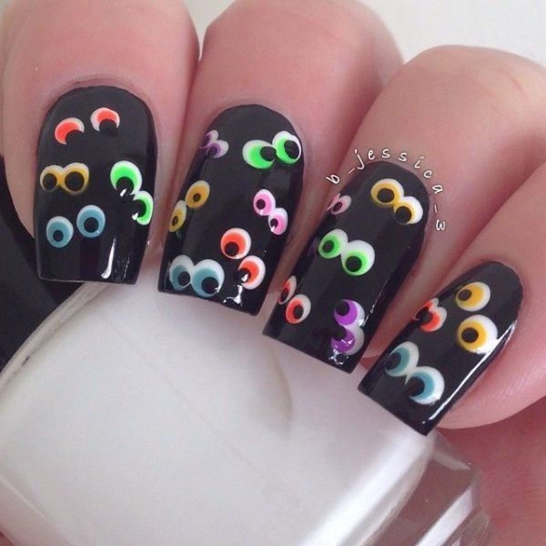 halloween-nail-ideas-58 89+ Seriously Spooky Halloween Nail Art Ideas