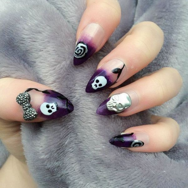 halloween-nail-ideas-62 89+ Seriously Spooky Halloween Nail Art Ideas