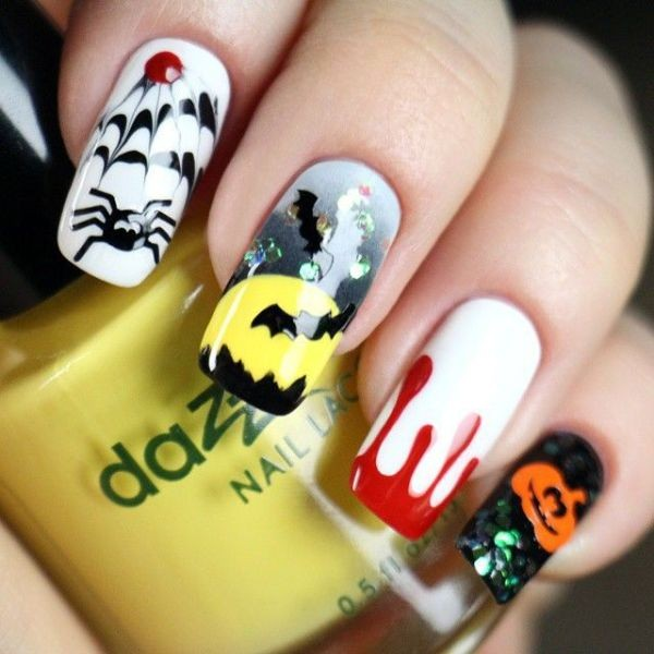 halloween-nail-ideas-68 89+ Seriously Spooky Halloween Nail Art Ideas