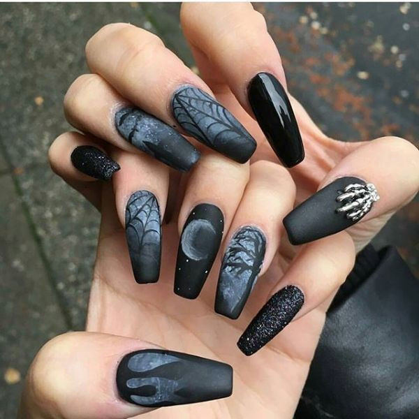 halloween-nail-ideas-69 89+ Seriously Spooky Halloween Nail Art Ideas