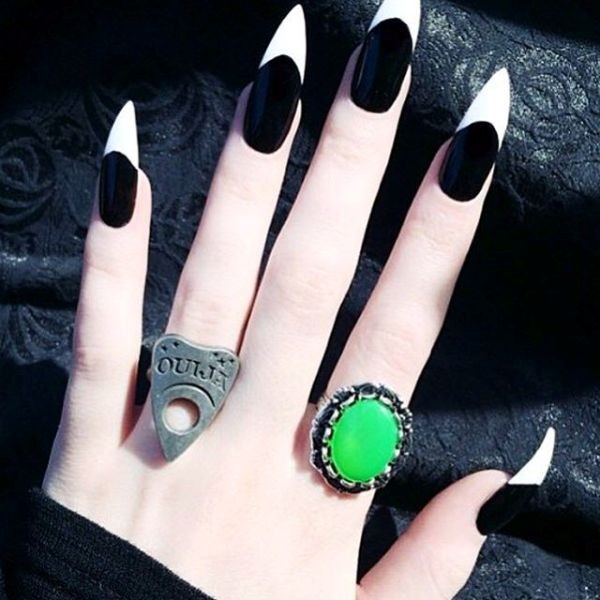 halloween-nail-ideas-70 89+ Seriously Spooky Halloween Nail Art Ideas