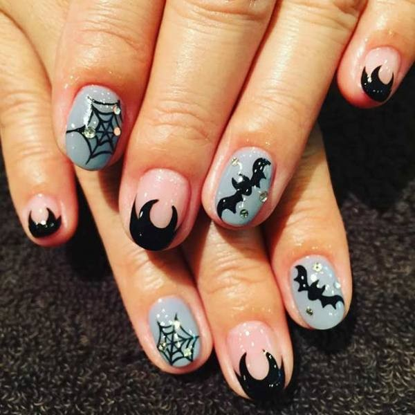 halloween-nail-ideas-71 89+ Seriously Spooky Halloween Nail Art Ideas