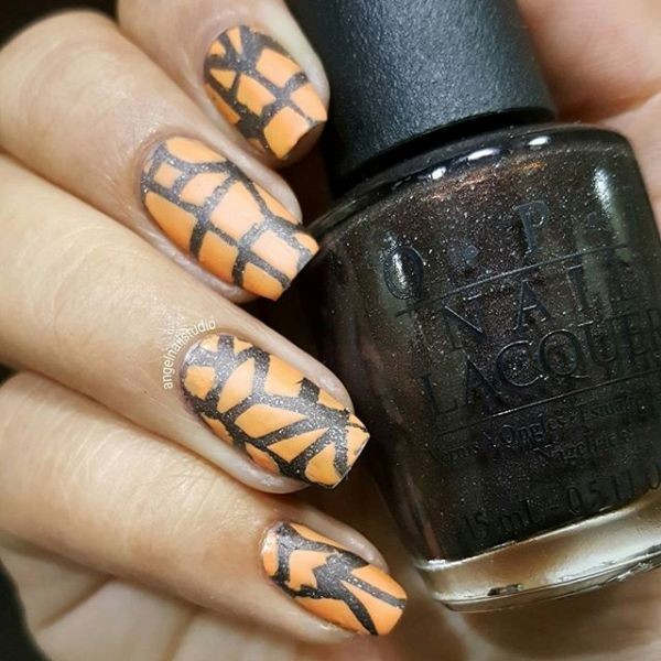 halloween-nail-ideas-75 89+ Seriously Spooky Halloween Nail Art Ideas