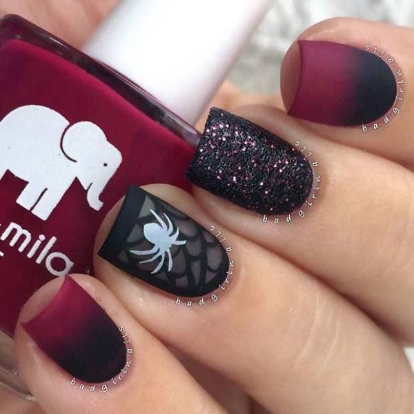 halloween-nail-ideas-76 89+ Seriously Spooky Halloween Nail Art Ideas