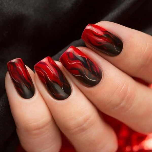 halloween-nail-ideas-78 89+ Seriously Spooky Halloween Nail Art Ideas