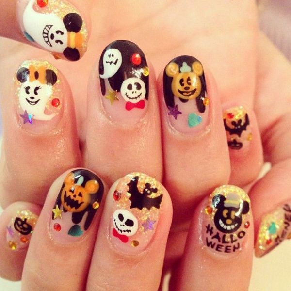 halloween-nail-ideas-79 89+ Seriously Spooky Halloween Nail Art Ideas