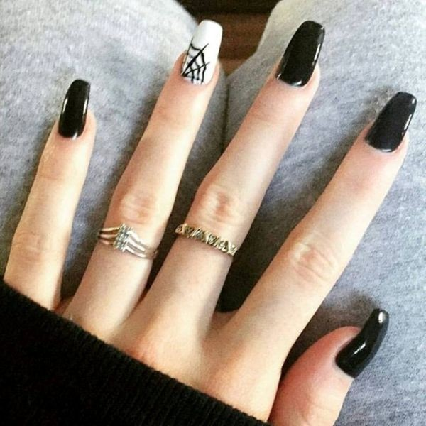 halloween-nail-ideas-80 89+ Seriously Spooky Halloween Nail Art Ideas