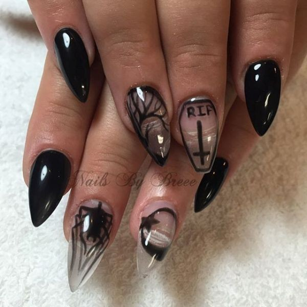 halloween-nail-ideas-81 89+ Seriously Spooky Halloween Nail Art Ideas