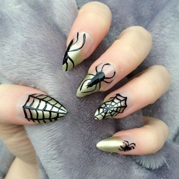 halloween-nail-ideas-82 89+ Seriously Spooky Halloween Nail Art Ideas