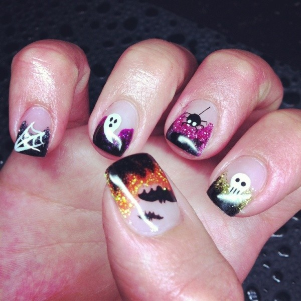 halloween-nail-ideas-84 89+ Seriously Spooky Halloween Nail Art Ideas