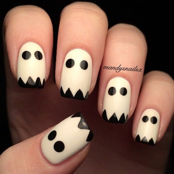 halloween-nail-ideas-86 89+ Seriously Spooky Halloween Nail Art Ideas