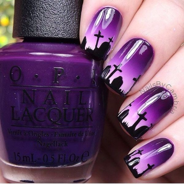 halloween-nail-ideas-88 89+ Seriously Spooky Halloween Nail Art Ideas