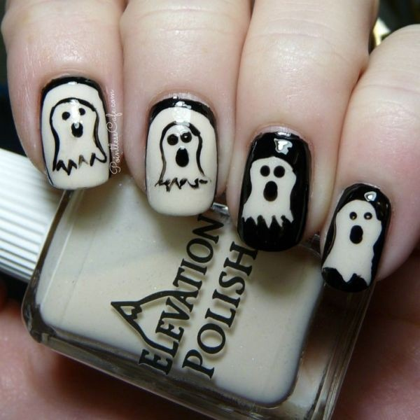 halloween-nail-ideas-89 89+ Seriously Spooky Halloween Nail Art Ideas