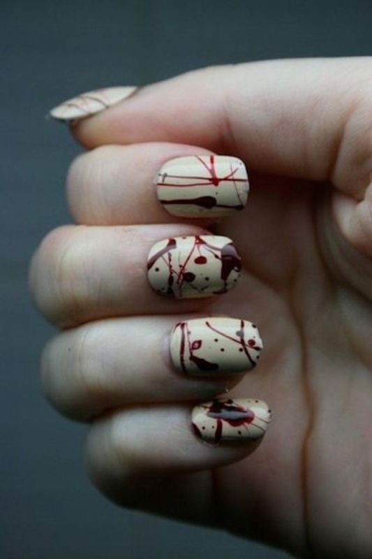 halloween-nail-ideas-9 89+ Seriously Spooky Halloween Nail Art Ideas